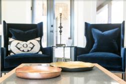 HHC Living Design Velvet Chairs