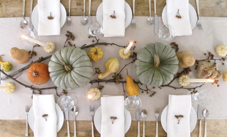 pumpkins as table decor