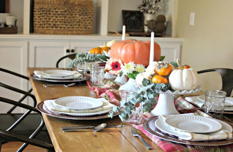 Festive holiday table