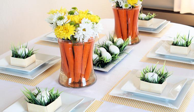 Carrots as decor