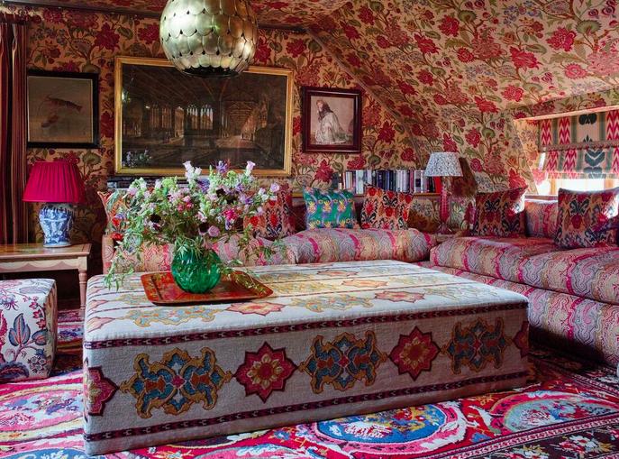 Multi-patterned living room